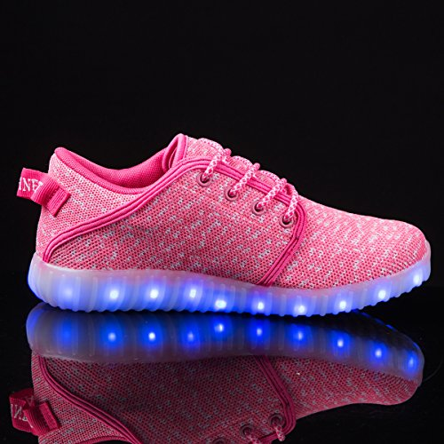 AFFINEST Light Up Schuhe Mens Womens Leichte USB Lade LED Fashion Flashing Sneakers Jungen Mädchen Mit Fernbedienung Rosa