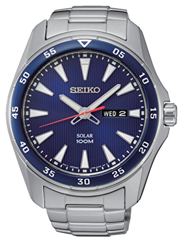 (Seiko Men's Analogue Quartz Watch with Stainless Steel Bracelet - SNE391P1)