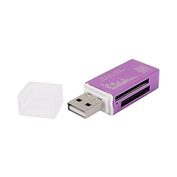 Púrpura del rectángulo de Shell 4 en 1 USB lector de ...