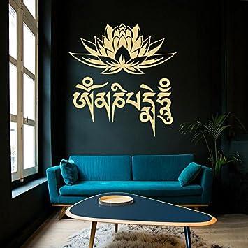 Vinyl Wandtattoo Lotos Lotosblume Buddha Joga Zen Meditation Om Mani ...