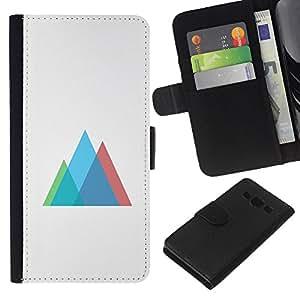 LECELL--Cuero de la tarjeta la carpeta del tirón Smartphone Slots Protección Holder For Samsung Galaxy A3 -- Neon Geometría --