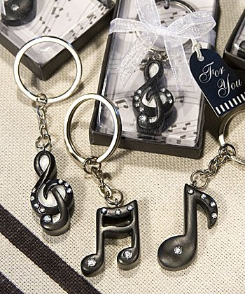 Musical Note Key Chain Favors, 36 -