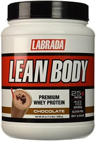 Labrada Nutrition Lean Body Premium Whey Protein Powder, Chocolate, 24 Ounce