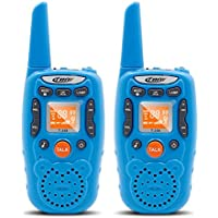 Crony One Pair Battery Powered 22 Channel Two-Way Radios With 3 Miles Range FRS/GMRS Walkie Talkies Toys for Kids Girls (Blue)