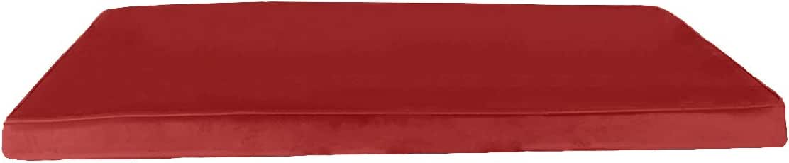 Regal In House Velvet Mini Mattress foam filler - 70X182X6 - Red