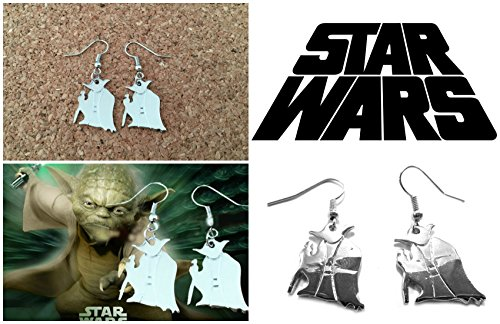 Star Wars Silvertone Yoda Earrings