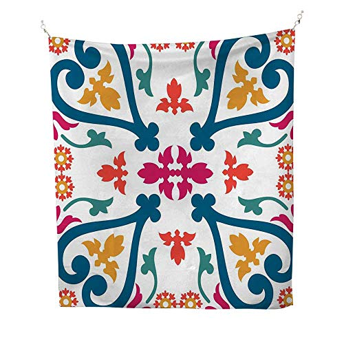 - Turkish PatterntapestryColorful Composition with Authentic and Abstract Leaf Motifs from East 40W x 60L inch Wall tapestryMulticolor