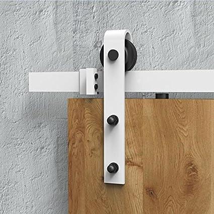 Amazon Diyhd 8ft White Color Sliding Barn Door Hardware Wooden