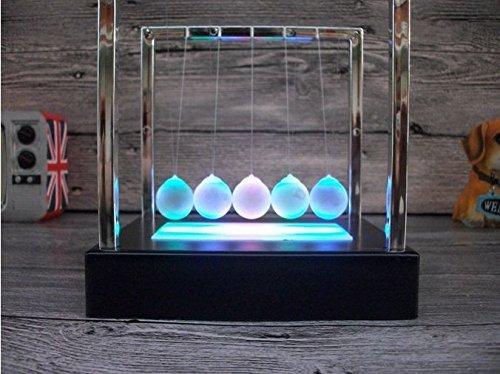 URToys Light Up Newtons Cradle Steel Balance Ball Kinetic En