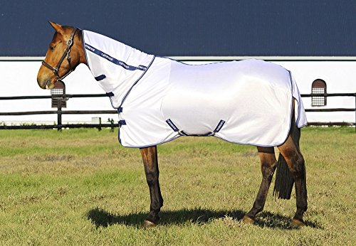 (TuffRider Sport Mesh Combo Neck Fly Sheet White 72)