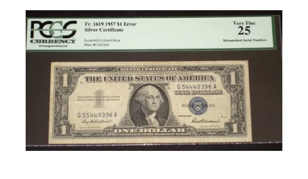 Amazon.com: Error - Mismatched Serial Number-- $1 1957 Silver ...
