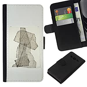 KLONGSHOP // Tirón de la caja Cartera de cuero con ranuras para tarjetas - Cachorro Resumen de la acuarela del cartel - Samsung Galaxy A3 //