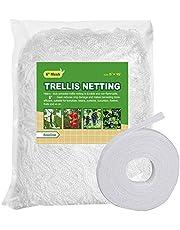 """BaseGoal All-Weather Trellis Netting Mesh Plant Garden Vine Growing Flexible String Net (6"""" Mesh ployester, 5' Wx 15'L)"""