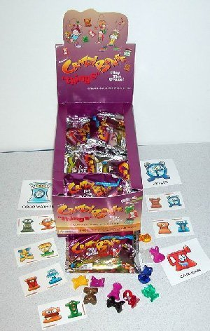 """72 Packages of Crazy Bones """"Things"""" New in Foil Package"""