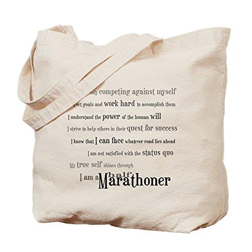 CafePress–I 'm una mitad Marathoner–Gamuza de bolsa de lona bolsa, bolsa de la compra Small caqui