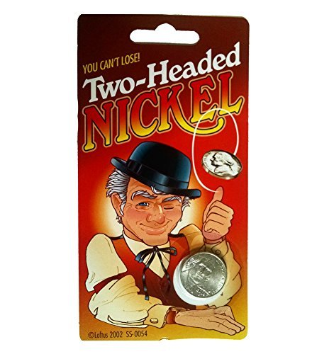 Classic Novelty Two Headed Magic Trick Lucky Nickel