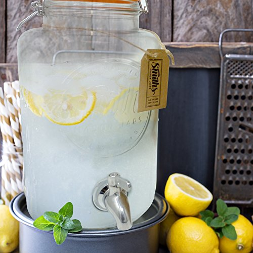 5 Litre Drinks Dispenser with Steel Spigot, wire mesh (to stop blockages) and gift tag, it's the Ultimate Drinks cooler - By Smith's Mason Jars by Smith's Mason Jars (Image #6)