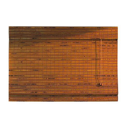 Lewis Hyman 0215470 Havana Bamboo Roman Shade, 70-Inch Wide by 64-Inch Long, Pecan