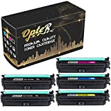 OpterInk CE709A Compatible Toner Cartridge 5 Pack (2 x Black, 1 x Cyan, 1 x Yellow, 1 x Magenta), for HP Color Laserjet Enterprise CP5525xh Printer Toner Cartridge