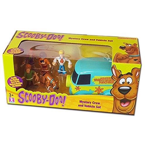 Scooby Doo Mystery Solving Crew Figures & Van Mini Playset