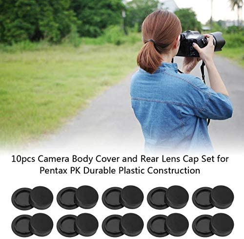 Value-5-Star New 10pcs Camera Body Cover and Rear Lens Cap Set for Pentax PK Durable Plastic Construction