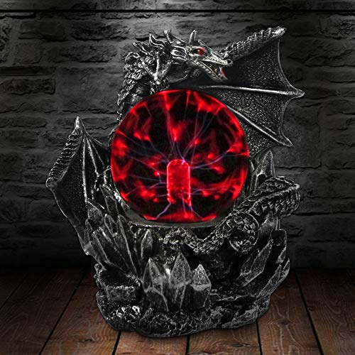 Aibote Magic Fly Dragon Glass Lightning Plasma Ball Touch Sensitive Night Light Lamp Bedroom Home Parties Decorations Novelty Toy Chrismas Halloween Gift (Dragon Fly Lamp)