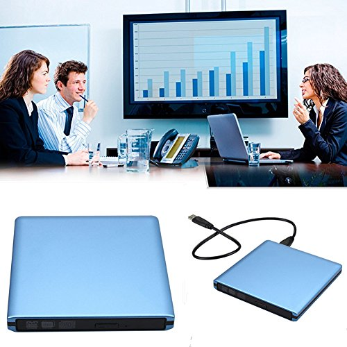 DLPIN USB 3.0 Ultra Portable External CD DVD RW DVD ROM Drive/Writer/Burner for Laptops, Desktops, Notebooks Mac, Macbook Pro Air iMAC (Blue) by DLPIN (Image #6)