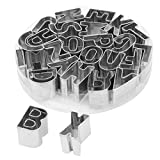 uxcell Metal Household English Letter Shaped Baking Cookie Handmade DIY Mold 26 in 1