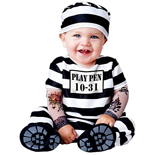 Jailbird Costume Infant (Time Out Baby Infant Costume - Infant Large)