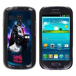 Be Good Phone Accessory // Dura Cáscara cubierta Protectora Caso Carcasa Funda de Protección para Samsung Galaxy S3 MINI NOT REGULAR! I8190 I8190N // Goth Robot Sci Fi Woman