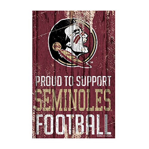 WinCraft Florida State Seminoles Official NCAA Sign 11x17 Wood by 796479 by WinCraft