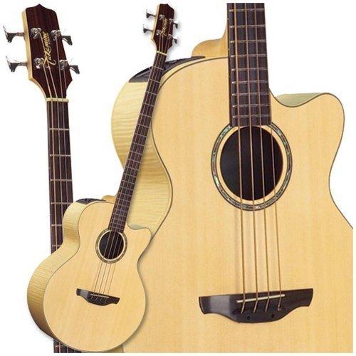 Takamine G Series EG512C Super Jumbo Acoustic Electric Bass, Natural ()