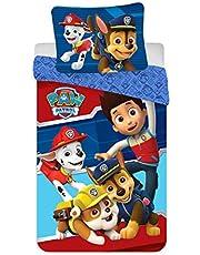 Sängkläder Paw Patrol, påslakan 140 x 200 + örngott 63 x 63 cm – set för barn