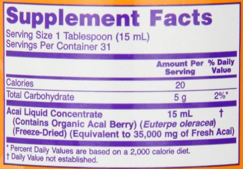 NOW Acai Liquid Concentrate 16-Ounce Discount