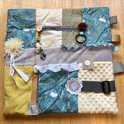 (Fidget Blanket for Dementia | Fidget Quilt | Alzheimer's Blanket | SOOTHING SWANS | by Restless)