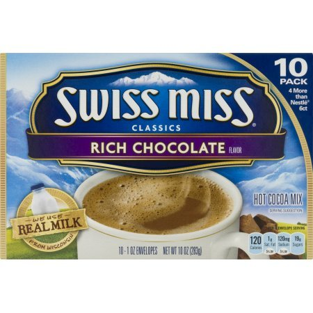 Swiss Miss Hot Cocoa Mix, Rich Chocolate, 10-Count Envelopes (Pack of 4)