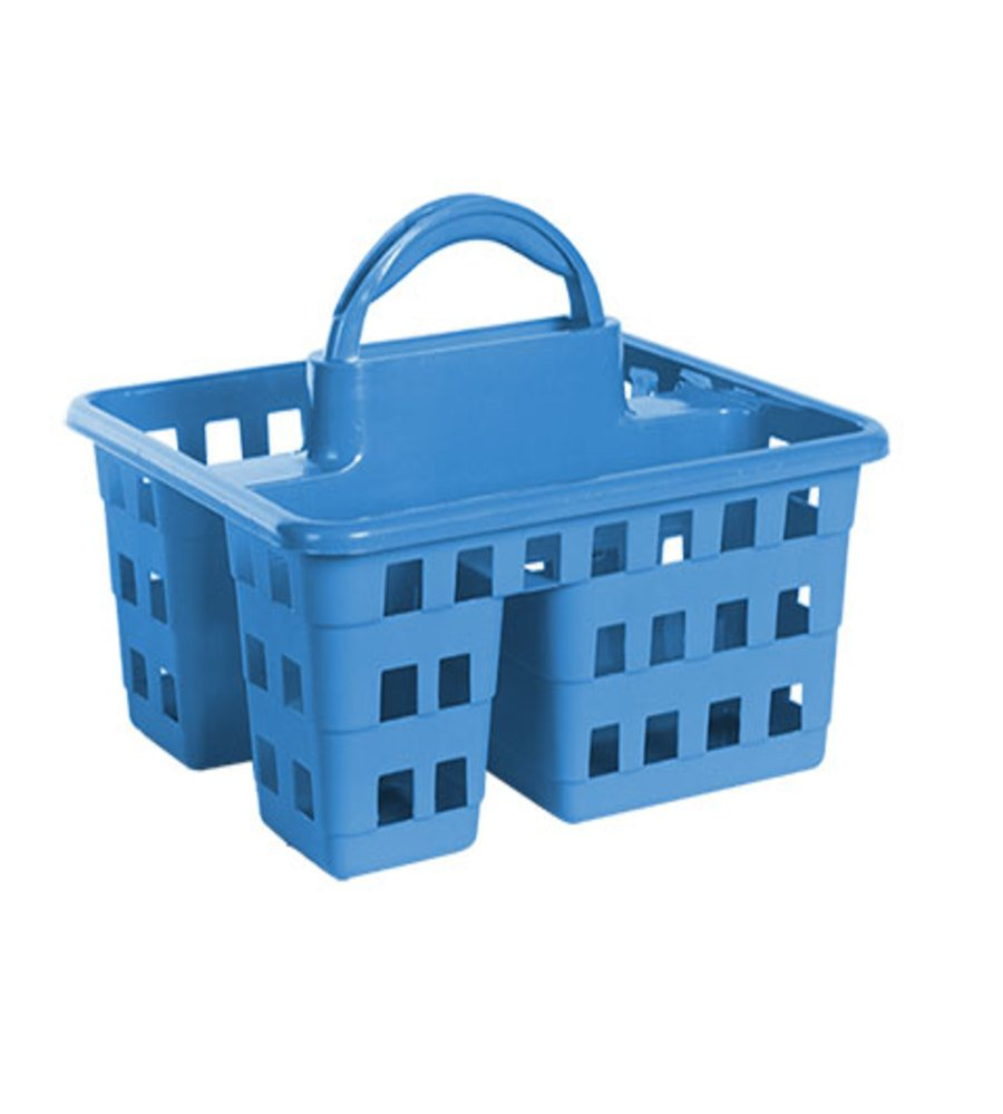 College Dorm 3 Compartment Shower Caddy (Blue)