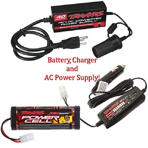 - Traxxas AC Power Supply w/ 2 Amp Charger & 6-Cell 7.2V 1800mAh NiMH Battery