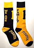 "Pittsburgh Pirates ""WE ARE FAMILY"" Big Top MisMatch Crew Socks Size Medium 5-10 - For Bare Feet"