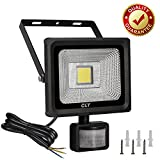Cly 20W Outdoor Security Light with Motion Sensor, Led Floodlight with PIR Sensor Daylight White IP66 Waterproof 1800 Lumen Fl