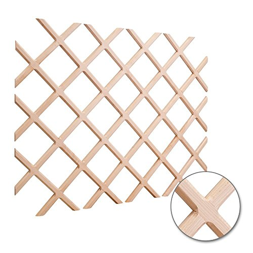 Maple Rack - Hardware Resources WR45-2MP Wine Lattice Rack With Bevel, Maple