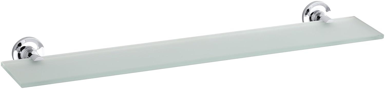 KOHLER K-14440-CP Purist Glass Shelf, Polished Chrome