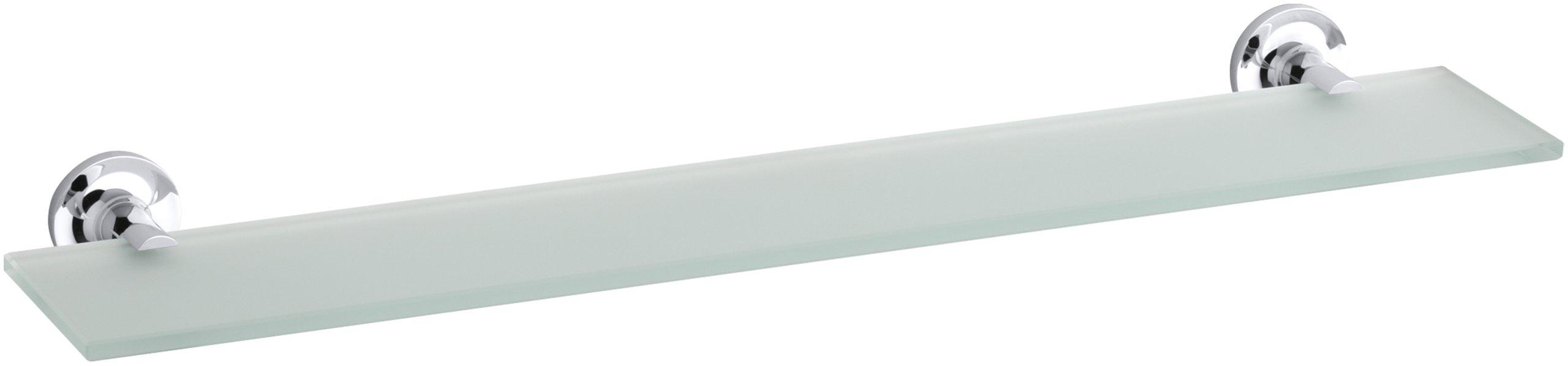 KOHLER K-14440-CP Purist Glass Shelf, Polished Chrome by Kohler