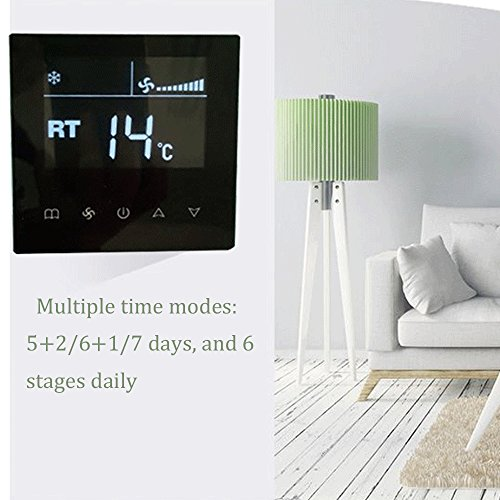 AMZVASO - Energy-Saving Thermostat Central Air Conditioning Switch Intelligent LCD Touch Screen Control Pane Room Temperature Controller
