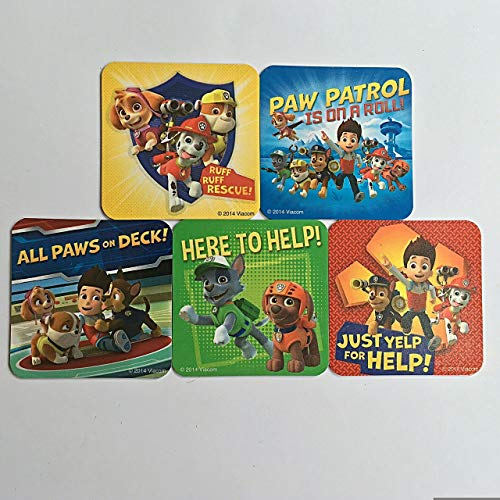 Paw Patrol Refrigerator Magnets, 5 Nickelodeon Nick Jr Ryder Marshall Rubble