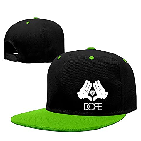UKWOK Dope Hand Diamond Sandwich Baseball Hats KellyGreen (Mb Smoker)