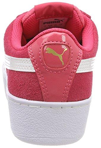 – puma Jr White Platform Vikky Puma Sneaker paradise Bambini Pink Unisex Rosa wqUwZBRpX
