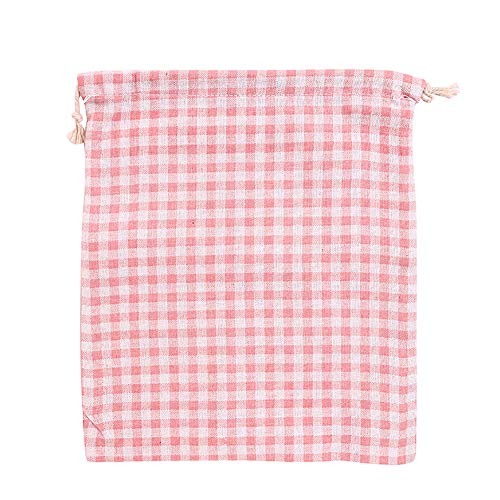 (LBgrandspec Lovely Drawstring Flamingo/Strawberry/Plaid Candy Makeup Storage Bag Gift Pouch New Cute Storage Bag Drawstring Bag Drawstring Portable dustproof Travel Bag - Plaid L)