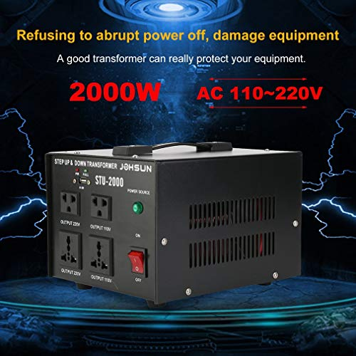 Homgrace 2000 W Voltage Converter Transformer, Heavy Duty Step Up and Down 110-220V (ST-2000W) by Homgrace (Image #1)