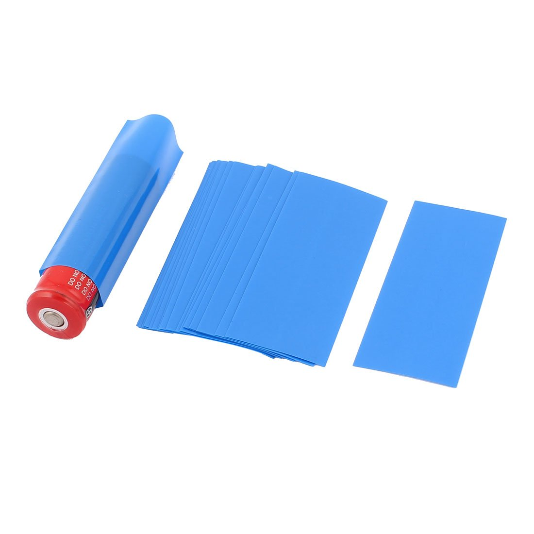 uxcell a15060100ux0642 20 Pcs 18.5mm Dia PVC Heat Shrink Tubing Blue for 1 x 18650/18500 Battery (Pack of 20)